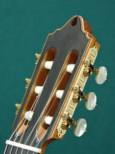 Headstock with Rodgers tuners